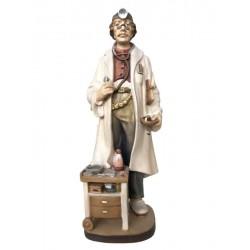 Medico scolpito in legno d'acero e dipinto a mano