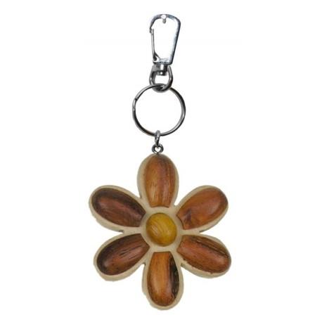 Portachiavi in legno fiore