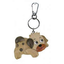 Dog, Dolfi key ring photo wood
