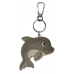 Portachiavi in legno delfino