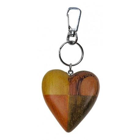 Portachiavi in legno cuore
