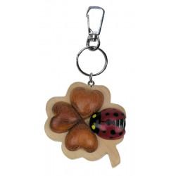 Keychain - Quatrefoil with Ladybird