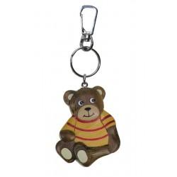 Portachiavi in legno massello multicolore teddy