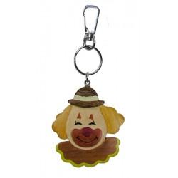Clown, wooden keychain