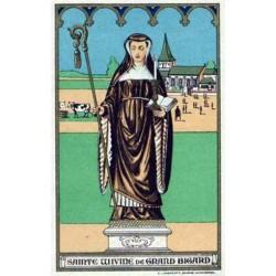 "Santa Wivine (Vivina) ""Benediktiner Äbtissin"""