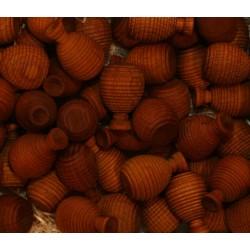 Frutta scolpita in legno profumata ananas