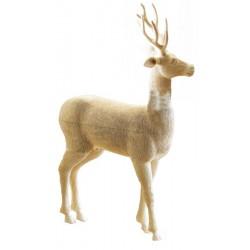 Splendido cervo in legno di tiglio