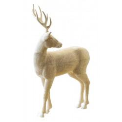 Cervo in legno di tiglio scolpito finemente - Dolfi animali di legno, Santa Cristina Gardena