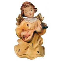 Engel mit Mandoline aus Ahorn - Bemalt