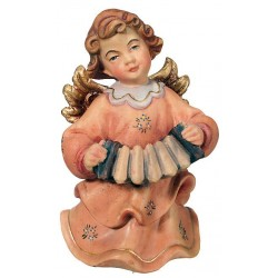 Angel with Accordion carved - painted