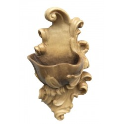 Holy Water Font carved in maple wood - Dolfi the Statue of Jesus Christ - Made in Italy - Different brown shades