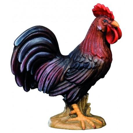 Il re del pollaio scolpito in legno d'acero e dipinto a mano