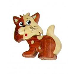 Magnete scolpito in legno leone