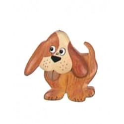 Magnete scolpito in legno cane - Dolfi portachiavi da incidere, Val Gardena
