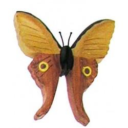 Schmetterling aus Holz; Dolfi Holzmagnet, diese Holzschnitzerei ist eine edle Südtiroler Holzfigur