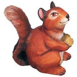 Lo scoiattolo scolpito nella sua tana