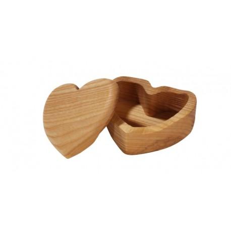 Heart-shaped jewelry box italian woodcarvings