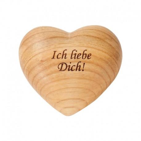 Herz mit Gravur. Ich liebe Dich, Handgefertigt in Südtirol - Dolfi Holz Herz groß, Schnitzer Gröden