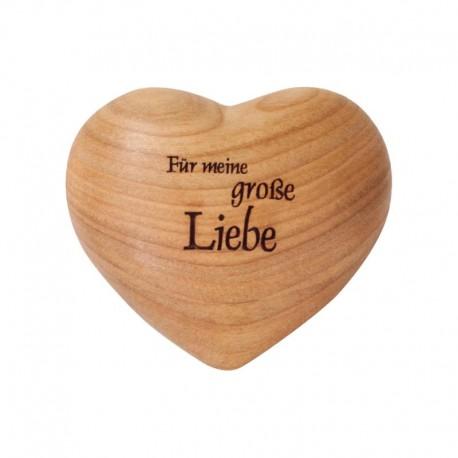 Für meine große Liebe 3D Holz Herz mit Gravur - Holzschnitzerei aus Südtirol, Schnitzereien Südtirol