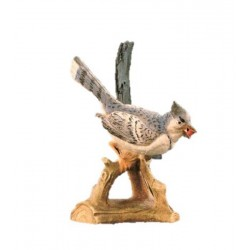 Uccello scolpito in legno d'acero e dipinto a mano