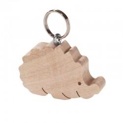 Portachiavi scolpito in legno riccio