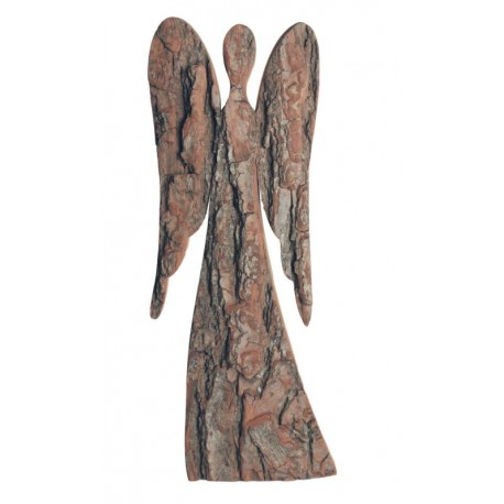Guardian Angel in wood 15,2 inches