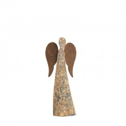 Wooden Angel Bark 8 inches