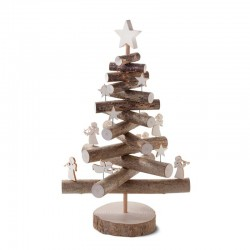 Christmas Tree in Pine with Bark  - Dolfi best Birthday Gifts - Made in Italy