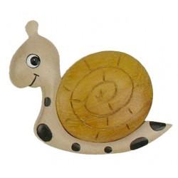 Magnet - Die Schnecke aus Holz