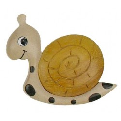 Magnet - Snail wood carved