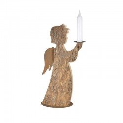 Rustic Wooden Angel with candle