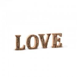 """Rindenwort """"LOVE"""" h.7cm"""