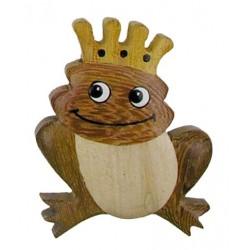 Frosch, Dolfi Magnete aus Holz, diese Holzfigur zählt zu den wichtigsten Grödner Holzschnitzereien