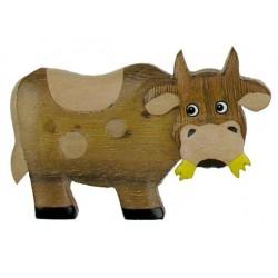 Kuh; Dolfi Holz Magnete Kinder, diese Holzschnitzerei ist eine wichtige Südtiroler Holzfigur