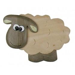 Schaf, Dolfi Gastgeschenk Magnet, diese Holzschnitzerei ist eine wichtige Südtiroler Holzfigur