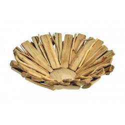 Portafrutta alto scolpito in legno rustico - Dolfi buono regalo, Castelrotto