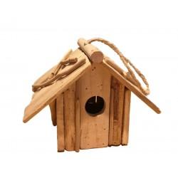 Casetta per uccellini in legno rustico scurito - Dolfi regali originali per lui, Val Gardena