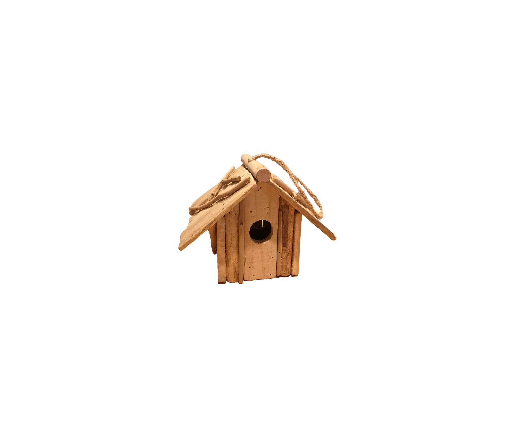 Casetta Per Uccellini In Legno Rustico Scurito Dolfi Shop