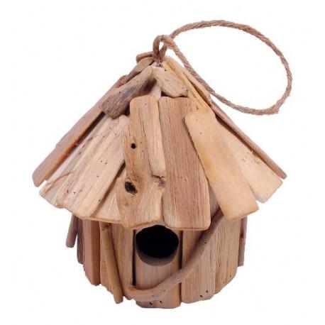 Casetta rustica per uccellini di forma tonda
