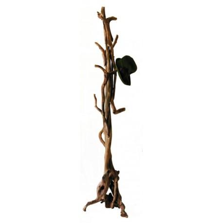 Attaccapanni scolpito in radici per cappotti ed ornamenti