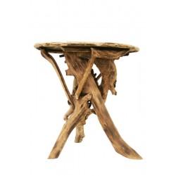 Runder Tisch aus Waldwurzeln