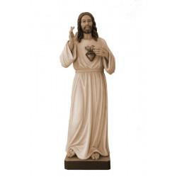 Sacro Cuore di Gesù scolpito in legno pregiato
