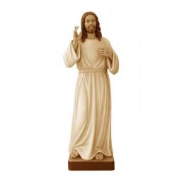 Gesù cristo Misericordioso di legno - brunito 3 col.