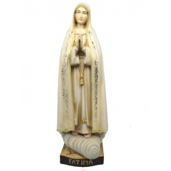 Our Lady of Fatima wooden statue - color