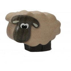 The miniature wooden Sheep - Dolfi wood Anniversary Gifts for her - Made in Italy