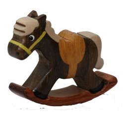 The woodcarving Rocking Horse - Dolfi Gifts in wood - Made in Italy