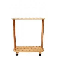 Portabastoni in legno alloggia numerosi pezzi