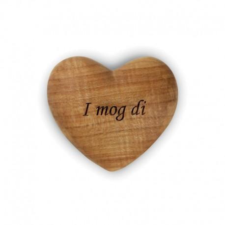 Holz-Herz mit Gravur I mod di ... geschnitzt und Hand gearbeitet aus Holz in Südtirol, aus Südtirol