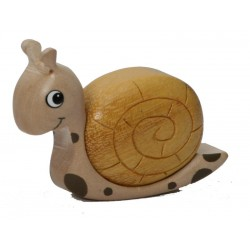 the Miniature Wooden Snail - Dolfi Wooden Gift Idea - Made in Italy