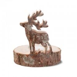 Tea Light with Deer in wood